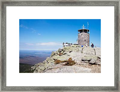 Whiteface Mtn. Tower Lookout Framed Print
