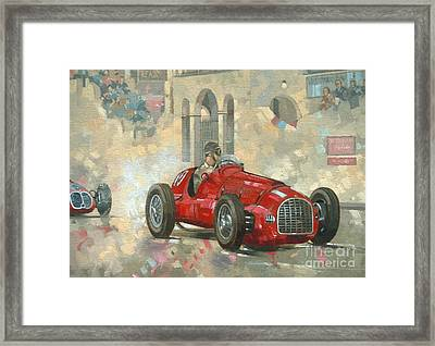 Whitehead's Ferrari Passing The Pavillion - Jersey Framed Print