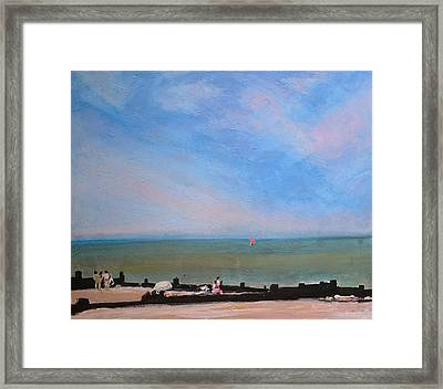 Whitstable Beach Framed Print by Paul Mitchell