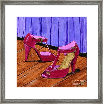 Who Wears These Shoes Framed Print