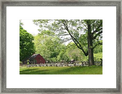 Wick Farm At Jockey Hollow Framed Print