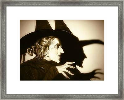 Wicked Witch Of The West Framed Print by Fred Larucci