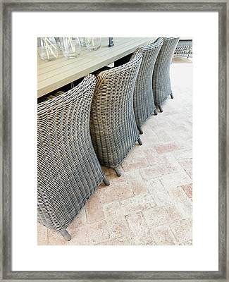 Wicker Chairs Framed Print