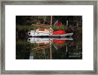 Wickford Cove Sailboat Framed Print