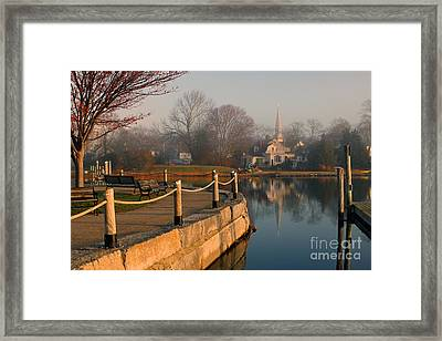 Wickford Harbor Framed Print by Jim Beckwith