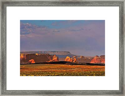 Wide-open Spaces - Page Arizona Framed Print by Christine Till