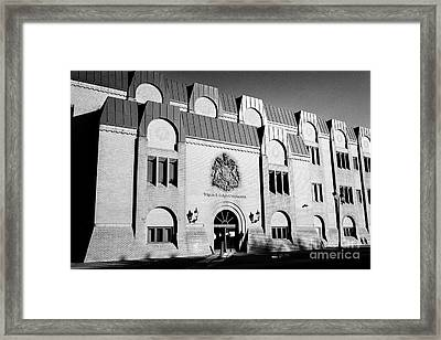 Wigan And Leigh Courthouse Magistrates County And Family Courts England United Kingdom Framed Print by Joe Fox