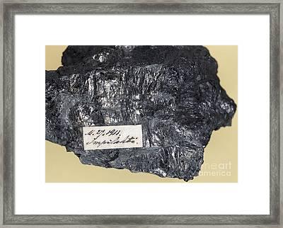 Wiikite Mineral Framed Print by Dirk Wiersma
