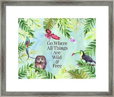Framed Print featuring the digital art Wild And Free by Colleen Taylor