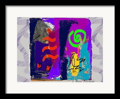 Abstract Handbag Drawing Framed Prints