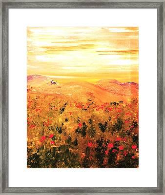 Wild Roses Framed Print by Evelina Popilian