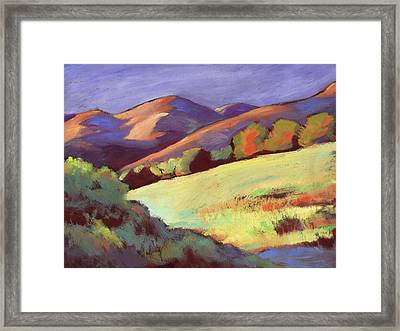Wildcat Canyon Hillside Framed Print