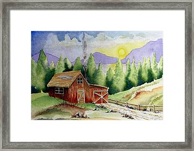 Wilderness Cabin Framed Print