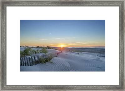 Wildwood Crest - Sunrise Framed Print by Bill Cannon