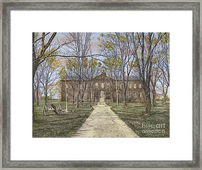 William And Mary College Williamsburg, Virginia Framed Print by Susan Bock