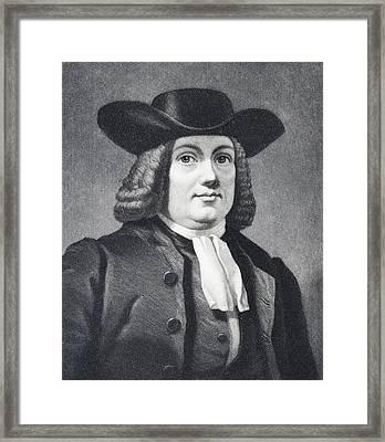 William Penn 1644 To 1718 English Framed Print