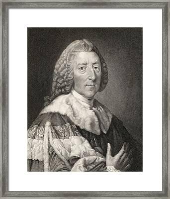 William Pitt The Elder 1st. Earl Of Framed Print