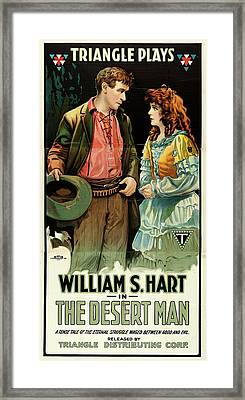 William S Hart In The Desert Man 1917 Framed Print by Mountain Dreams