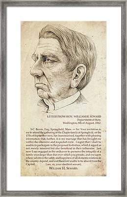 William Seward Framed Print by Greg Joens