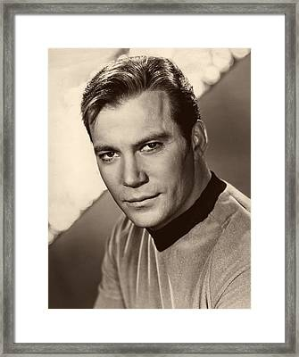 William Shatner As Captain Kirk 1967 Framed Print by Mountain Dreams