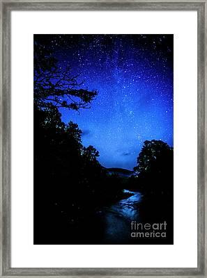 Williams River Under The Stars Framed Print by Thomas R Fletcher