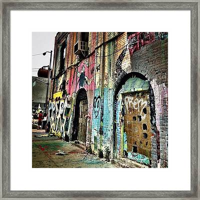 Williamsburg Graffiti Framed Print by Natasha Marco