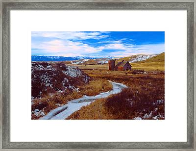 Willow Creek Barn Framed Print