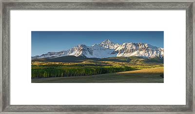 Framed Print featuring the photograph Wilson Peak Panorama by Aaron Spong