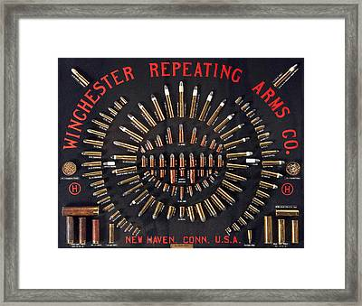 Winchester Repeating Arms Cartridge Board Framed Print
