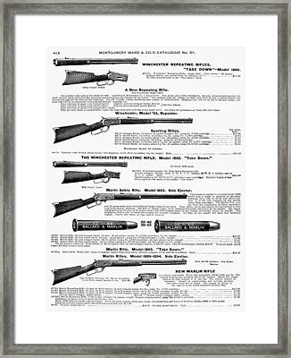Winchester Rifles Framed Print by Granger