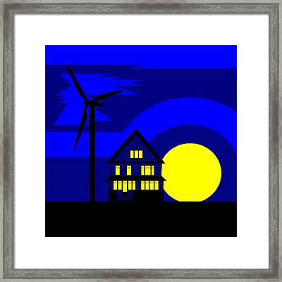 Wind And Sun Framed Print by Asbjorn Lonvig