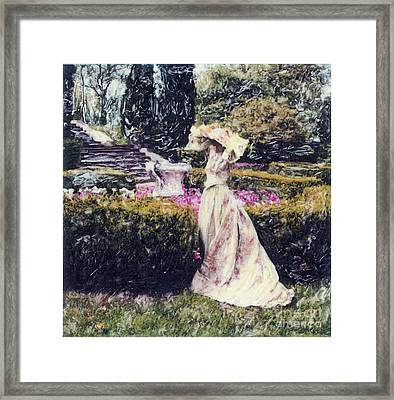 Wind Through The Gardens Framed Print by Steven  Godfrey