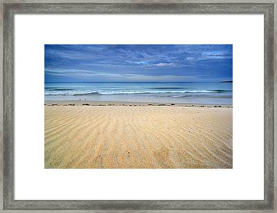 Wind Traces Framed Print