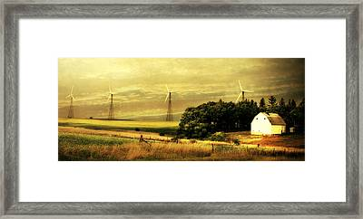 Wind Turbines Framed Print by Julie Hamilton