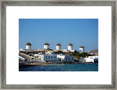 Windmills Of Mykonos Framed Print