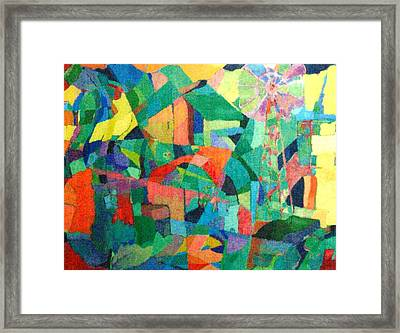 Framed Print featuring the painting Windmills Of The Mind by Bernard Goodman