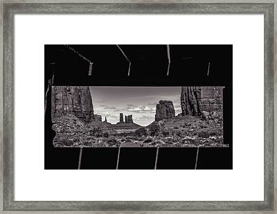 Framed Print featuring the photograph Window Into Monument Valley by Eduard Moldoveanu