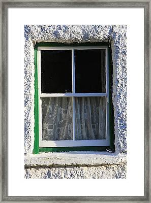 Window Framed Print by Michael Diggin