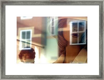 Window Shopping Framed Print by Jez C Self