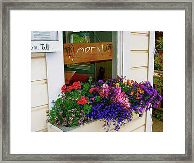 Window View Framed Print by Lisa Billingsley
