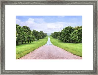 Windsor Castle - Long Walk Framed Print