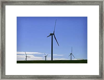 Windy Power Framed Print