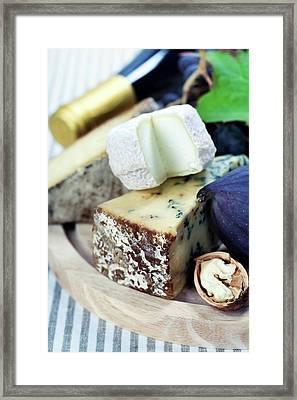 Wine And Cheese Framed Print by Natalia Klenova
