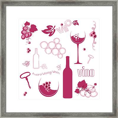 Wine Background Pattern Framed Print by Serena King