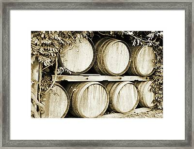 Wine Barrels Framed Print by Scott Pellegrin