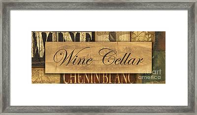 Wine Cellar Collage Framed Print by Grace Pullen