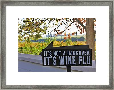 Wine Flu Framed Print by Jennifer Ansier