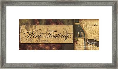 Wine Tasting Collage  Framed Print by Grace Pullen