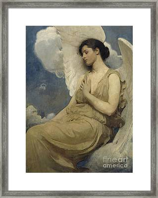 Winged Figure Framed Print