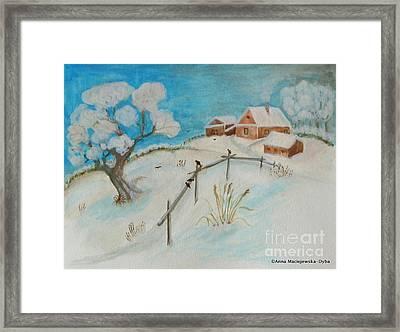 Winter Framed Print by Anna Folkartanna Maciejewska-Dyba